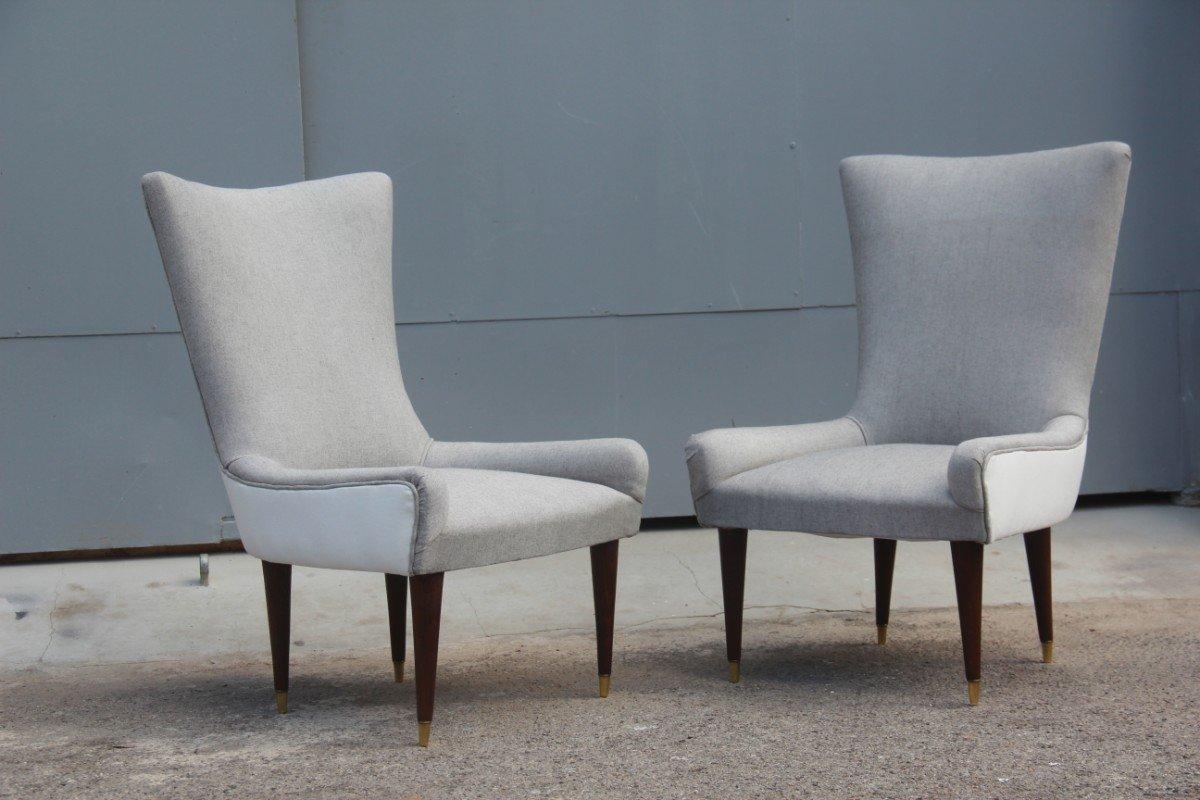 italienische mid century st hle 1950er 2er set bei pamono kaufen. Black Bedroom Furniture Sets. Home Design Ideas