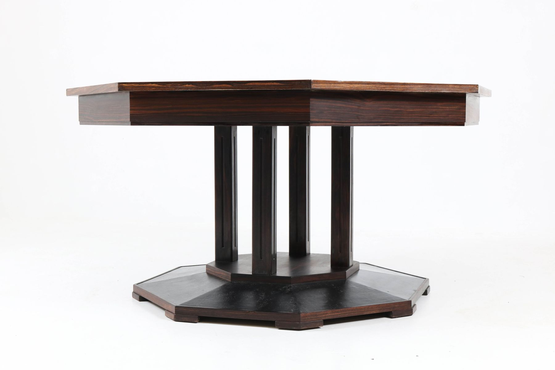 Art Deco Dutch Macassar Ebony Center Table From U0027t Woonhuys, 1930s