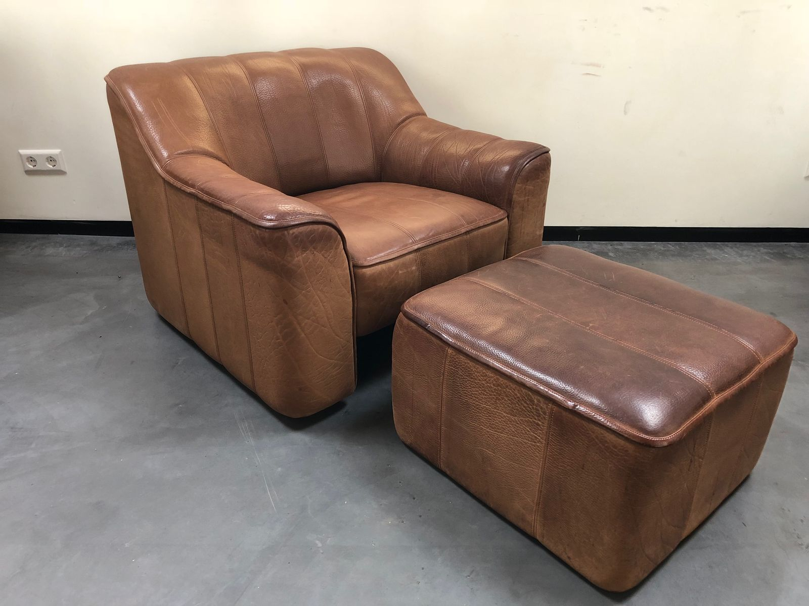 DS44 DS 44 Chair U0026 Ottoman Set From De Sede, 1970s
