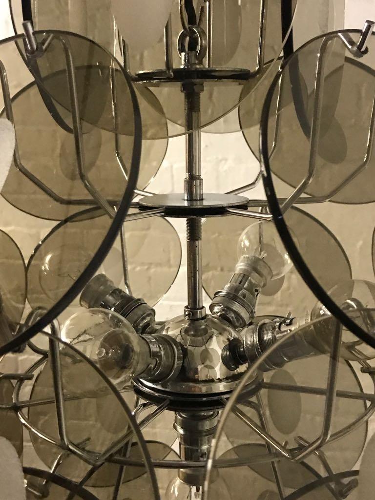 Italienische mid century murano glas disc kronleuchter von - Kronleuchter poco ...