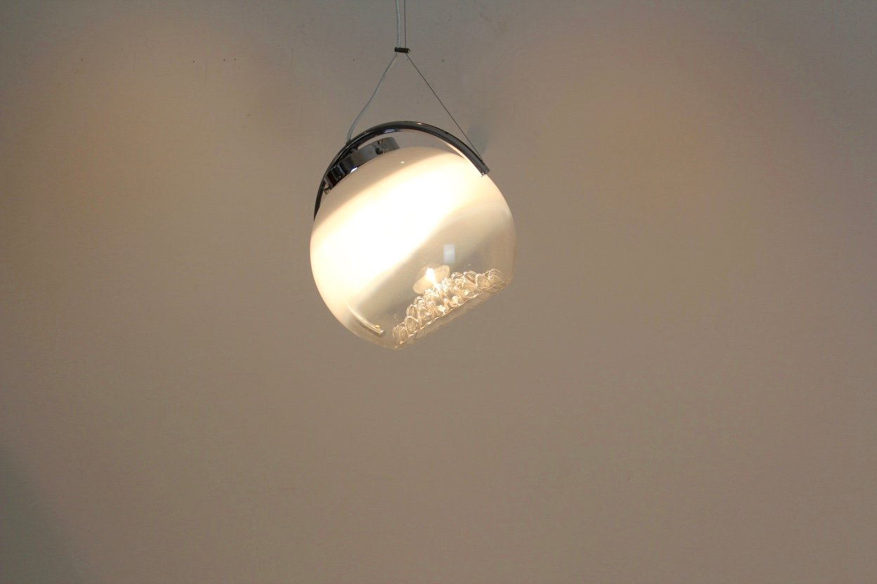 Frosted glass moon pendant light from mazzega 1970s for sale at pamono price per piece aloadofball Images