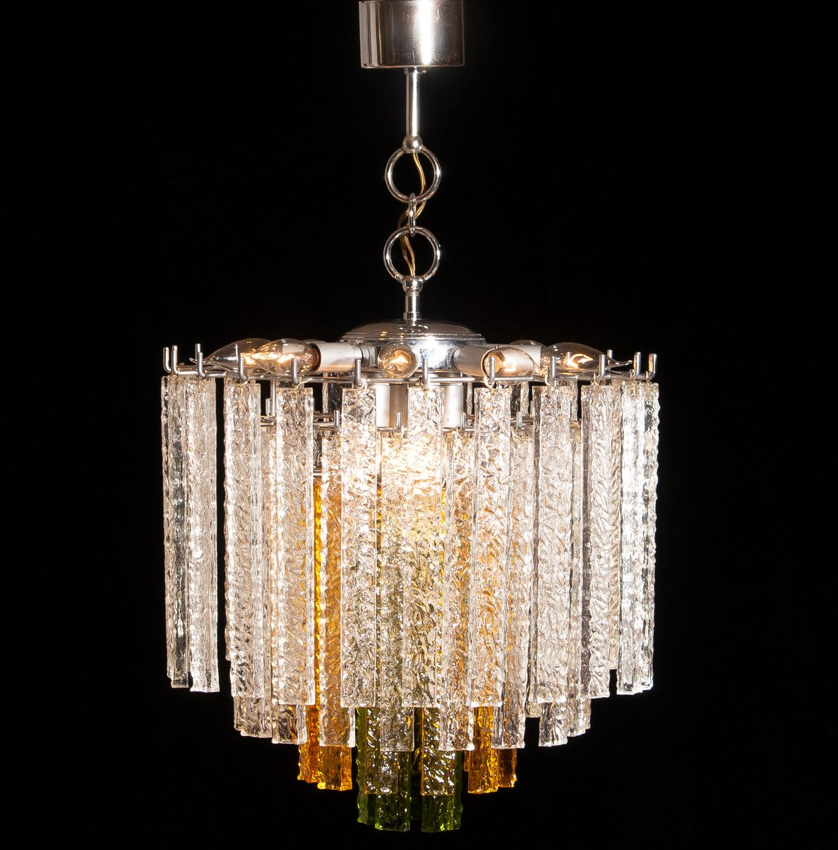 Murano tri color glass chandelier from venini 1960s for sale at murano tri color glass chandelier from venini 1960s mozeypictures Images