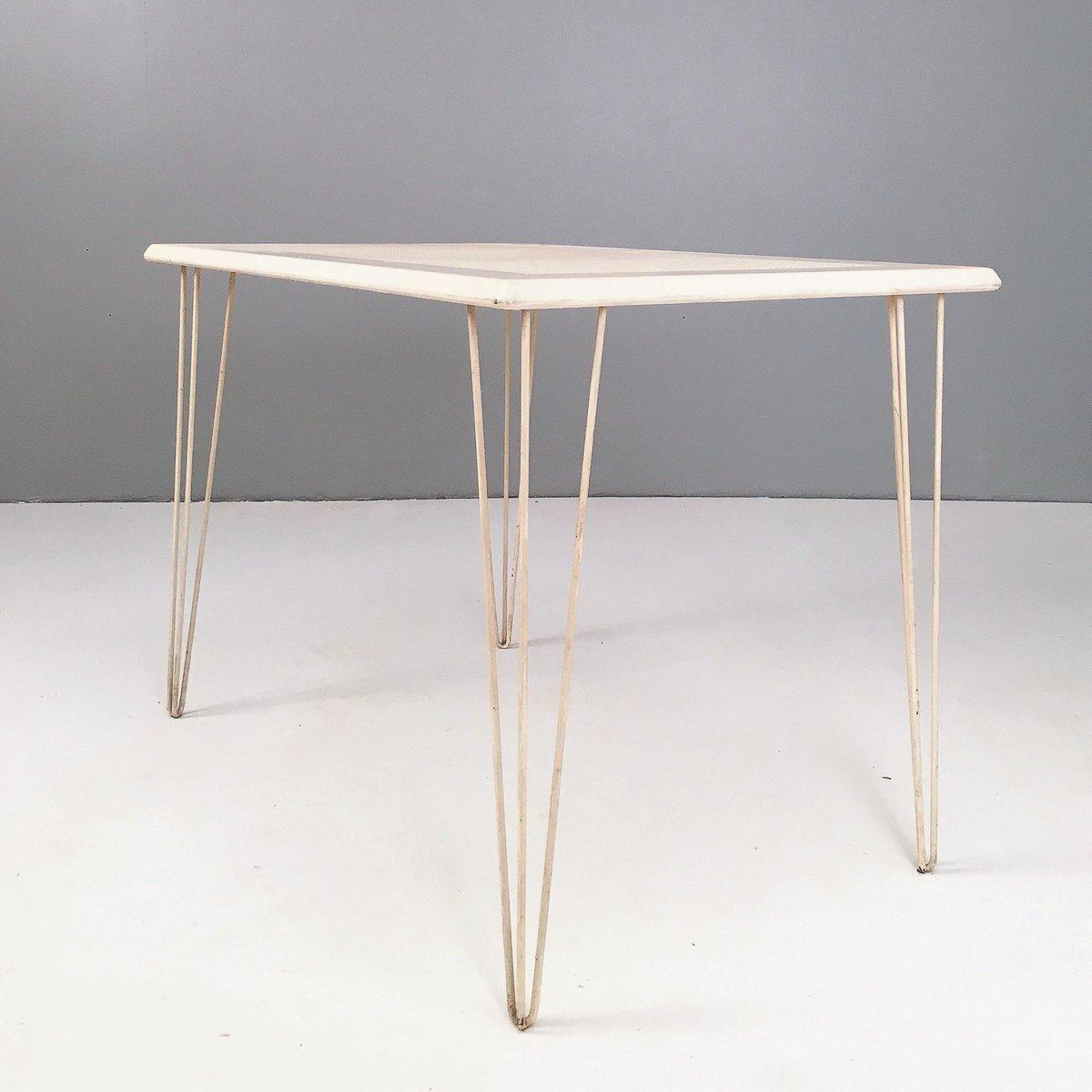 modernistischer metall gartentisch 1950er bei pamono kaufen. Black Bedroom Furniture Sets. Home Design Ideas