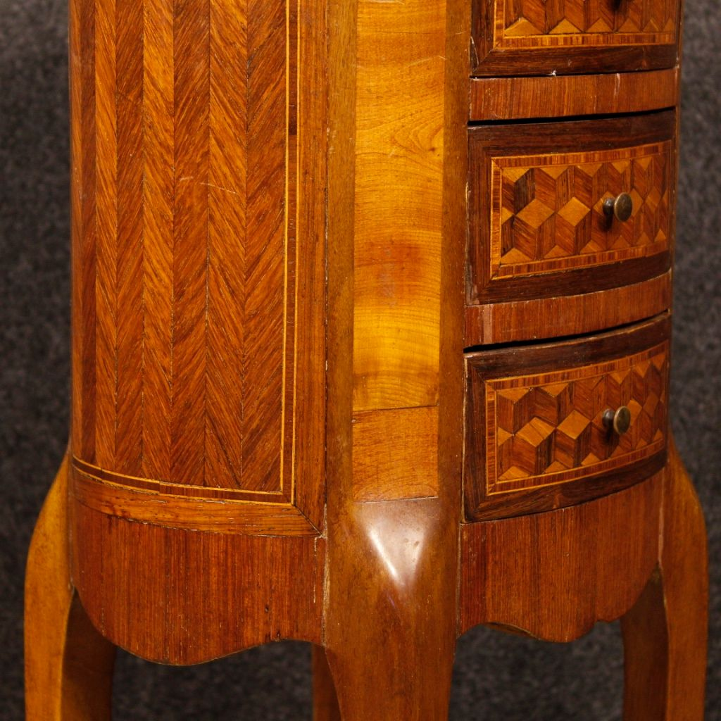 franz sische kommode mit intarsie und marmorplatte 1950er bei pamono kaufen. Black Bedroom Furniture Sets. Home Design Ideas