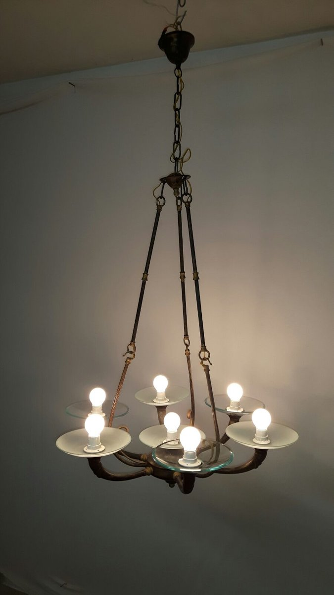 Art Deco Style 7 Arm Chandelier 1960s For Sale At Pamono