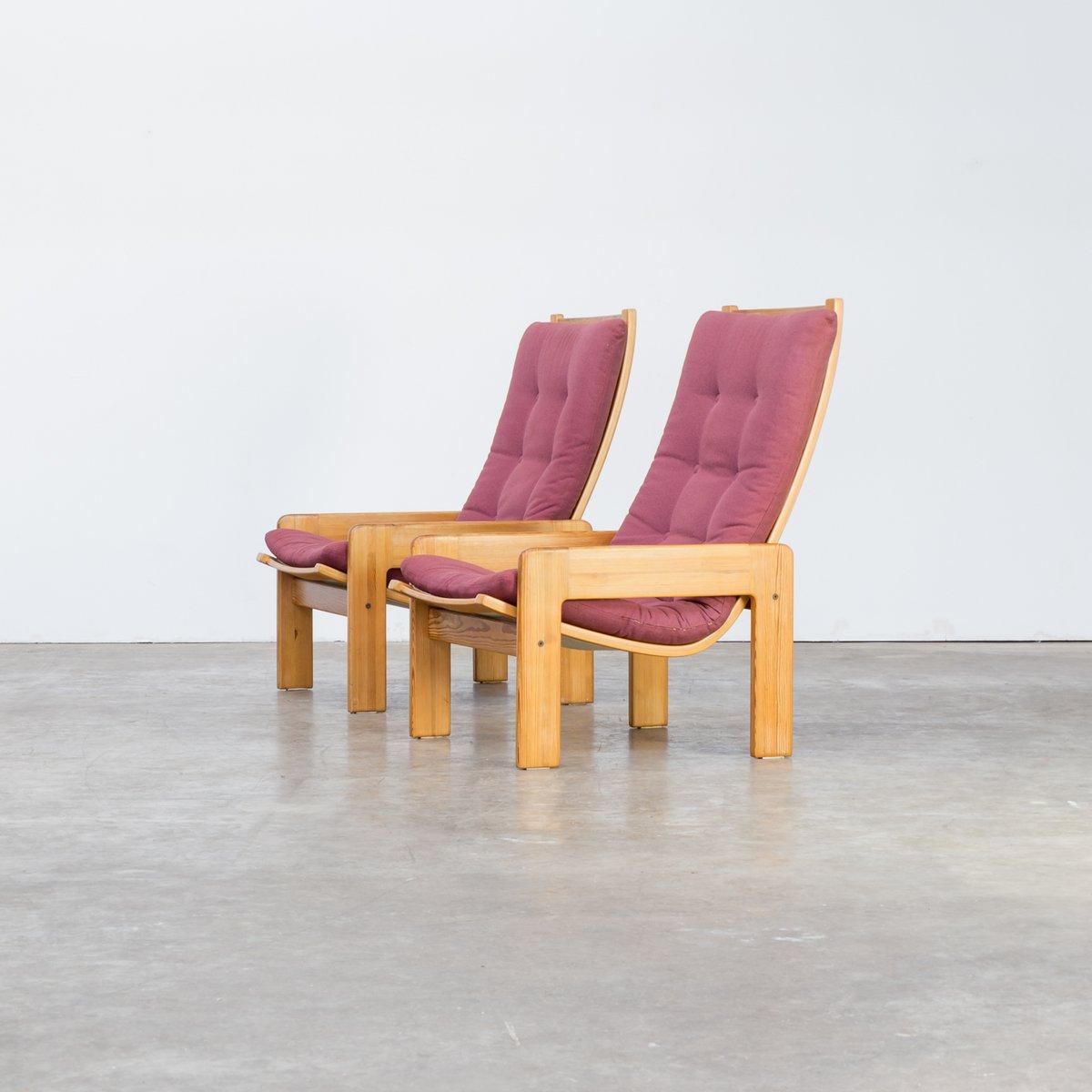 st hle von yngve ekstr m f r swedese 1970er 2er set bei. Black Bedroom Furniture Sets. Home Design Ideas