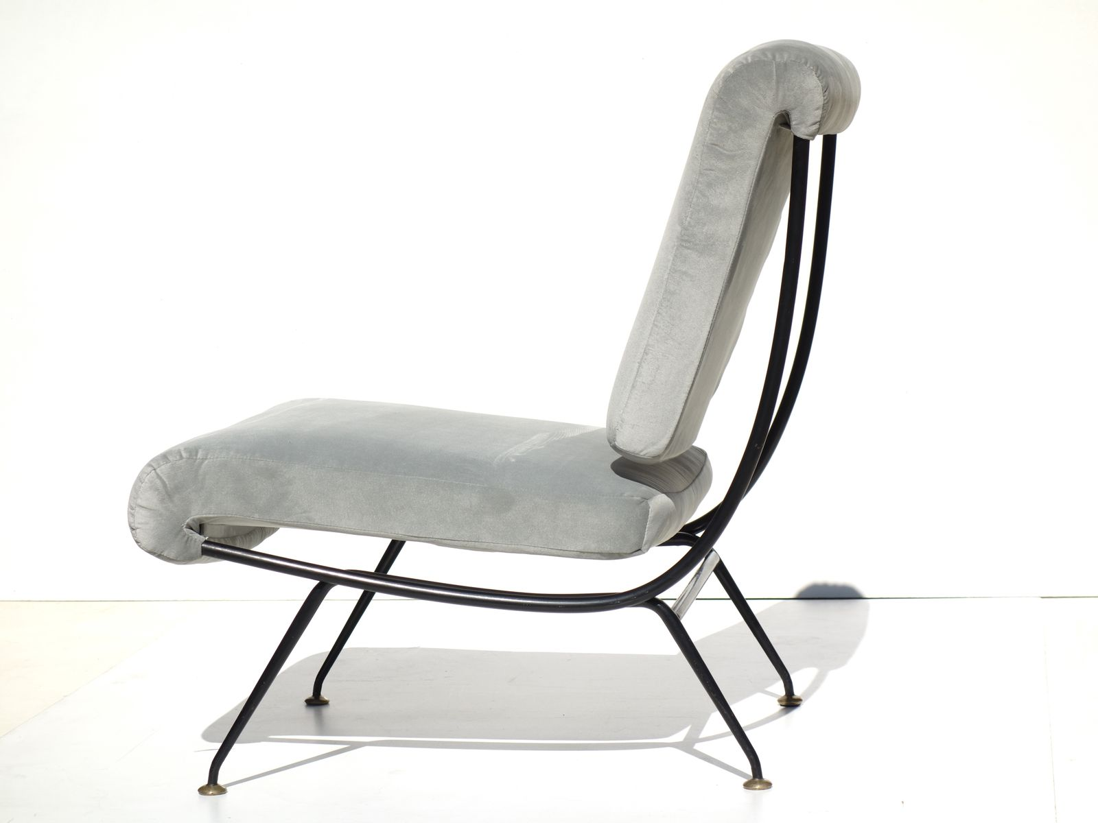 chaise mid century par gastone rinaldi pour rima italie. Black Bedroom Furniture Sets. Home Design Ideas