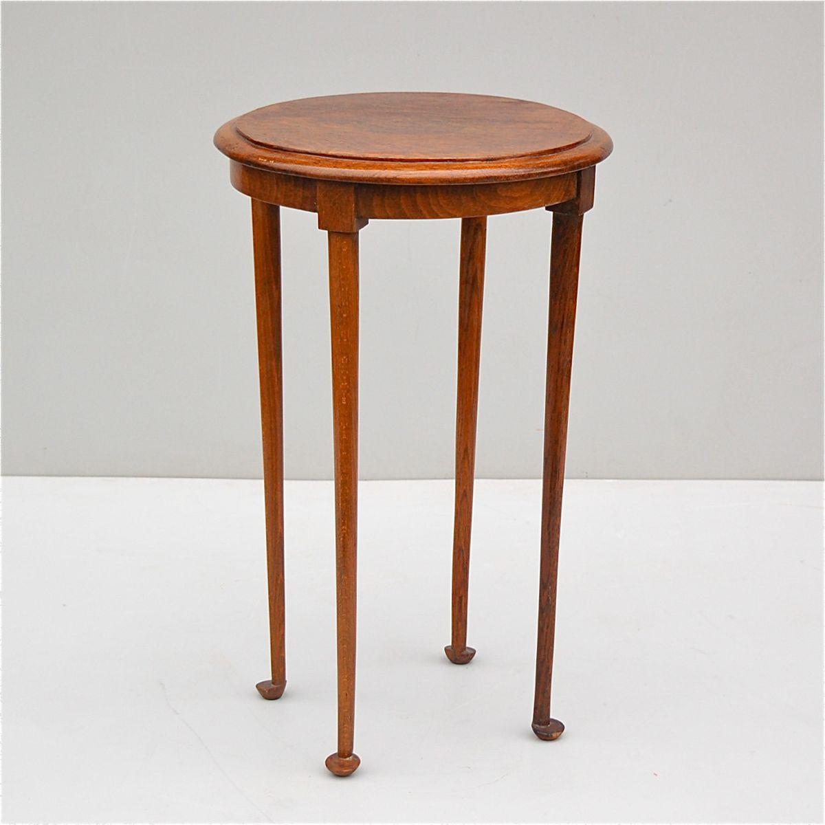 eichenholz tisch mit abgerundeten beinen 1950er bei pamono kaufen. Black Bedroom Furniture Sets. Home Design Ideas