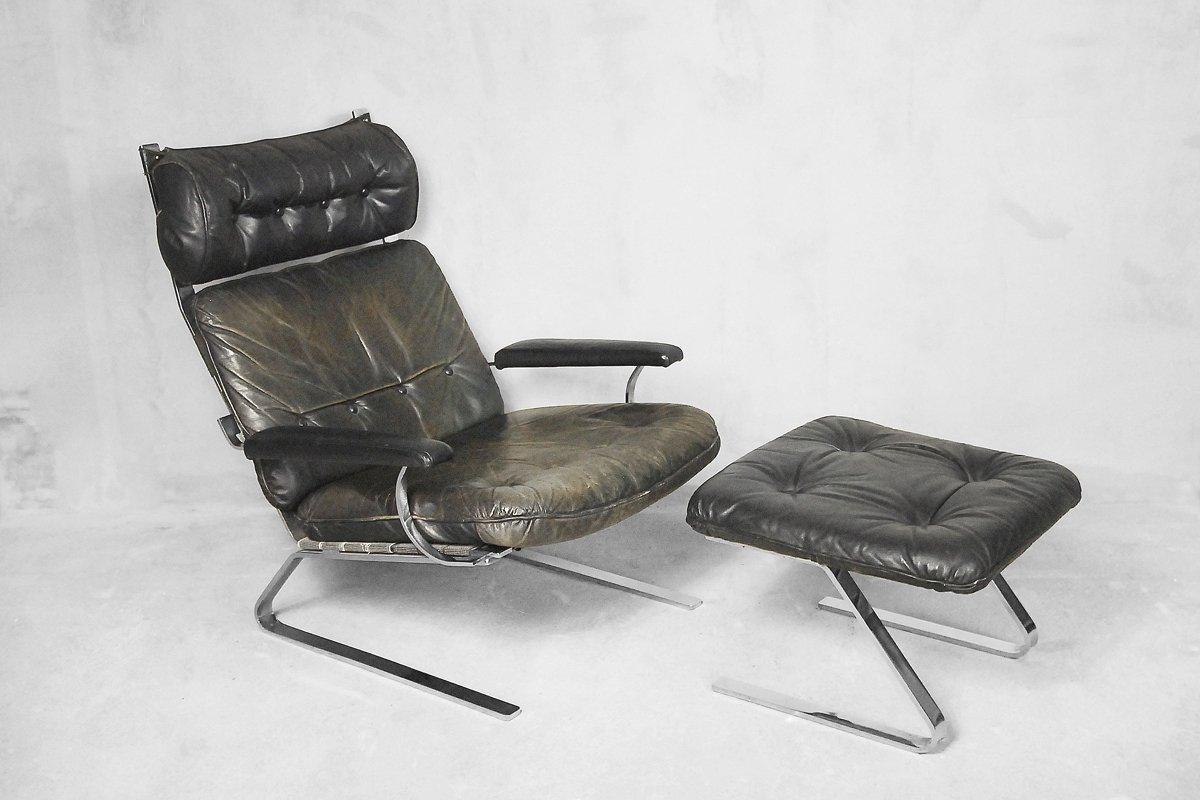 Atractivo Muebles De Cuero Tan Otomana Componente - Muebles Para ...