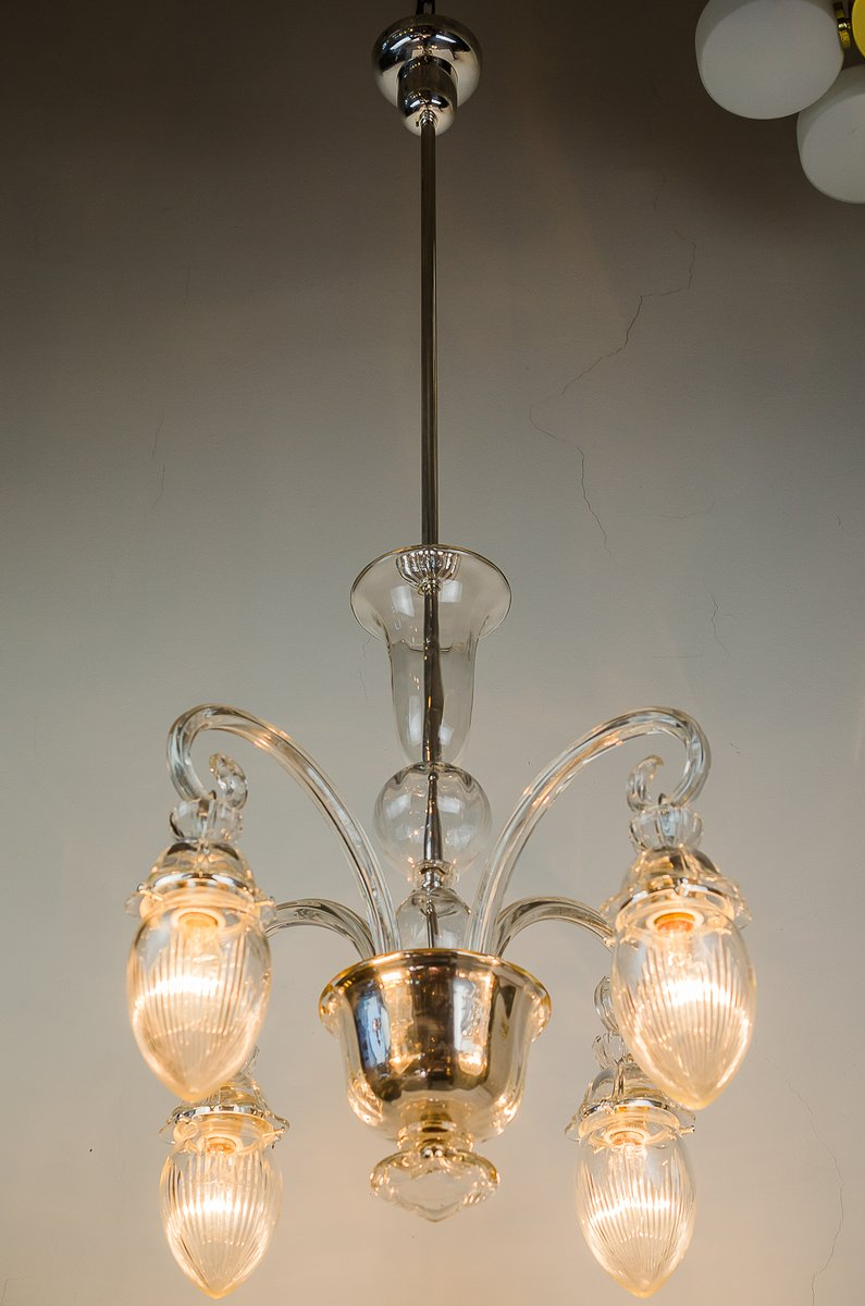 Vintage glass chandelier 1920s for sale at pamono arubaitofo Image collections