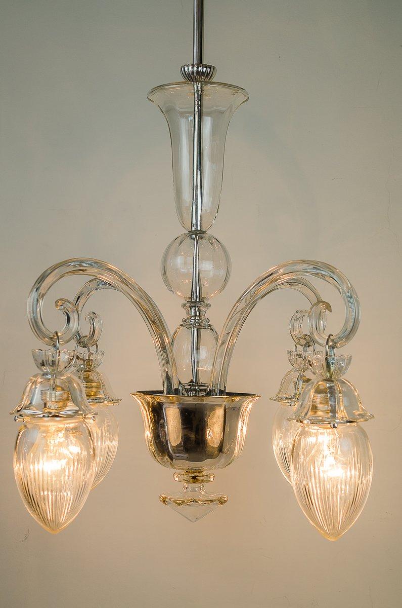 vintage glas kronleuchter 1920er bei pamono kaufen. Black Bedroom Furniture Sets. Home Design Ideas