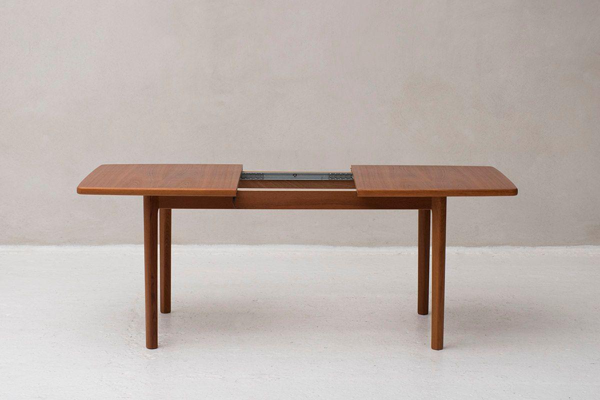 table de salle manger rallonge mod le 66 vintage en. Black Bedroom Furniture Sets. Home Design Ideas