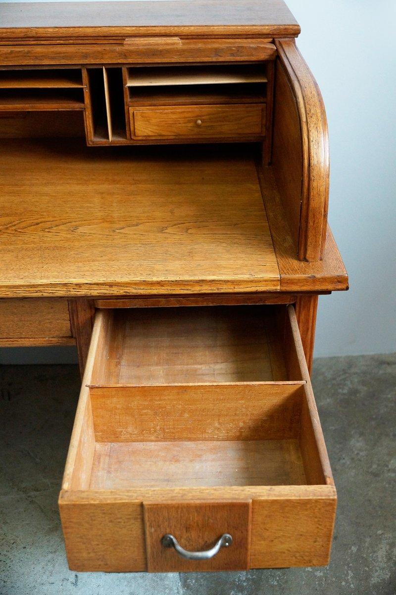 zweiteiliger vintage schreibtisch bei pamono kaufen. Black Bedroom Furniture Sets. Home Design Ideas