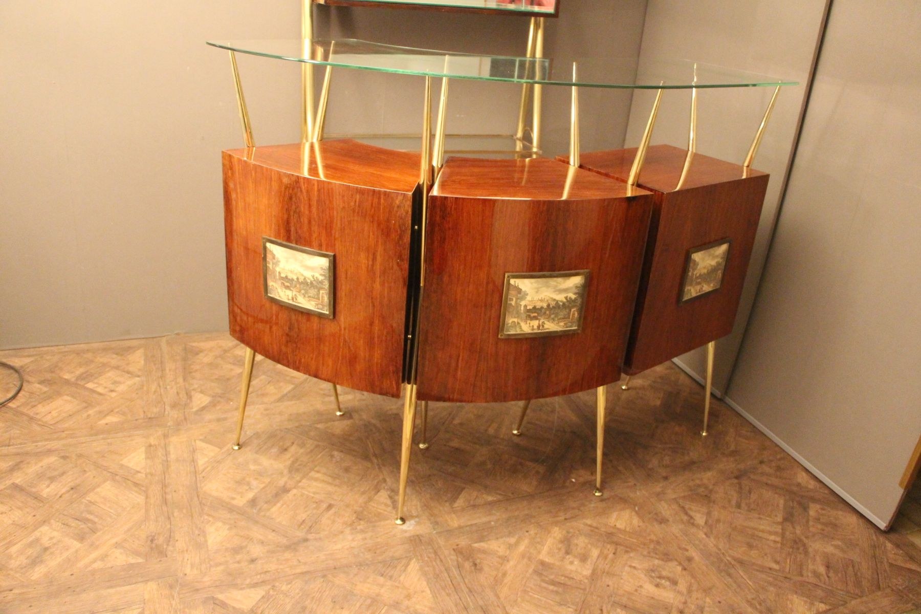 italienische mid century bar 1950er bei pamono kaufen. Black Bedroom Furniture Sets. Home Design Ideas