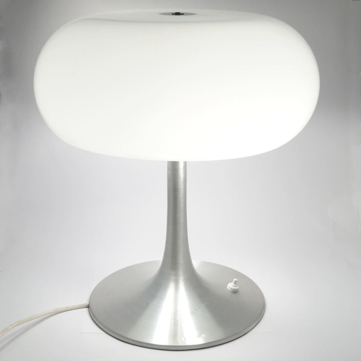 Large Aluminium Mushroom Table Lamp 1970s For Sale At Pamono