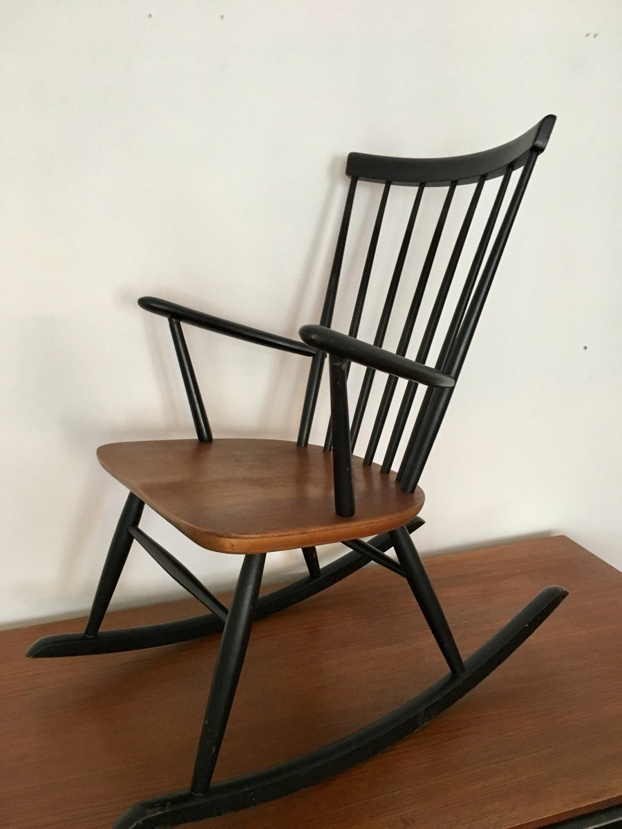 rocking chair scandinave par roland rainer pour 2k 1960s en vente sur pamono. Black Bedroom Furniture Sets. Home Design Ideas