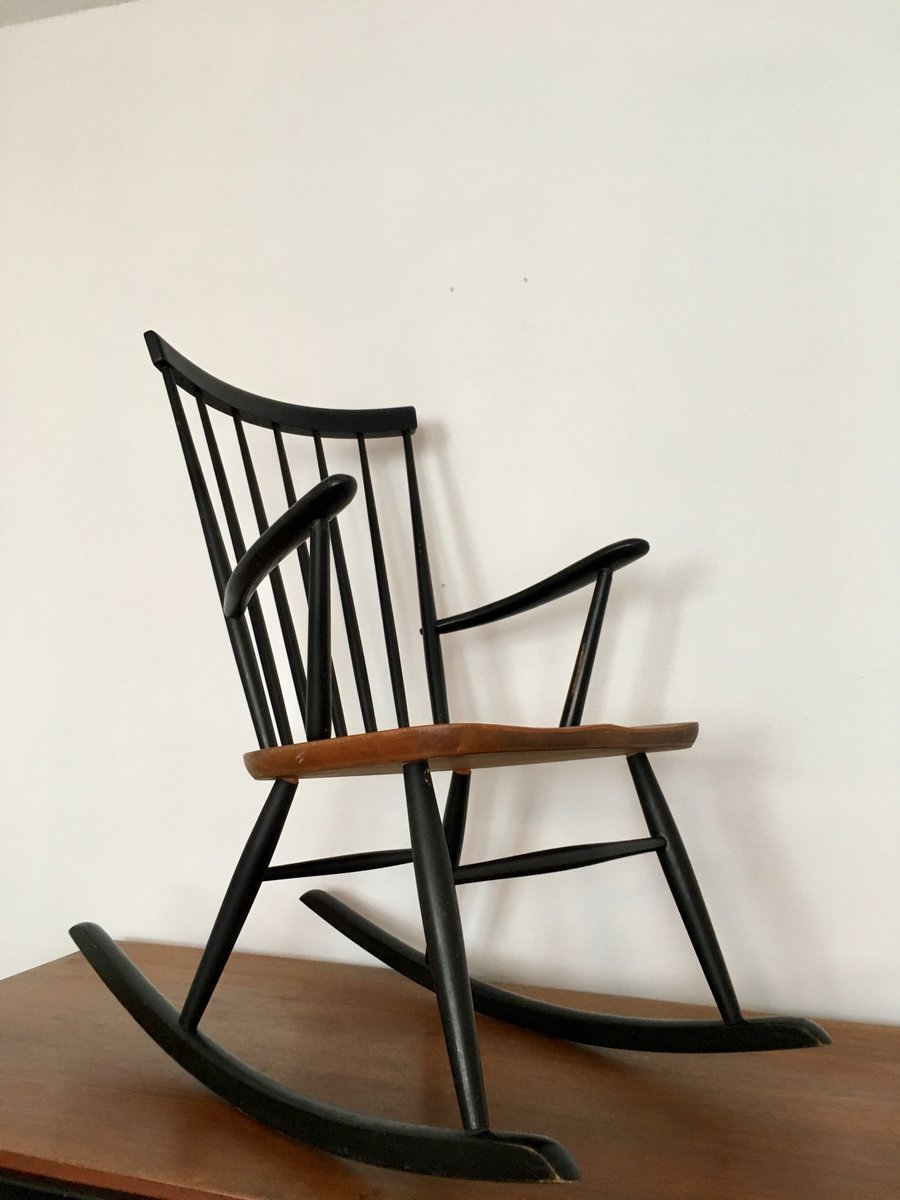 Scandinavian Rocking Chair By Roland Rainer For 2K, 1960s