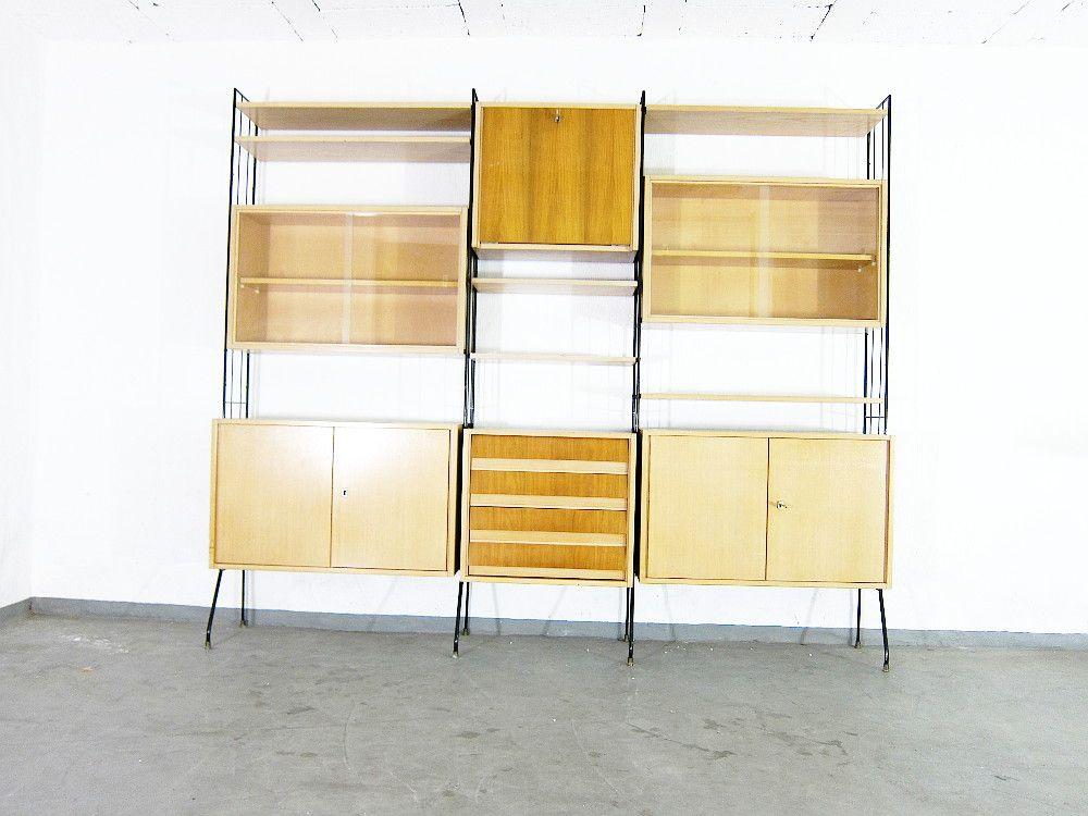 mid century walnuss furnier regal von koch m bel bei pamono kaufen. Black Bedroom Furniture Sets. Home Design Ideas