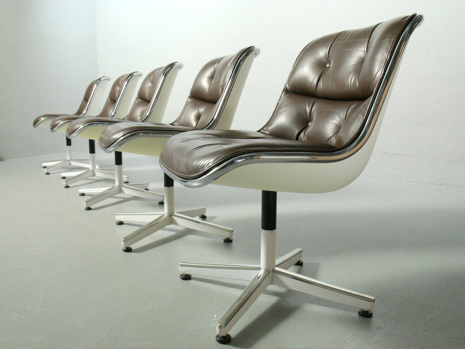executive stuhl von charles pollock f r knoll international 1970er bei pamono kaufen. Black Bedroom Furniture Sets. Home Design Ideas