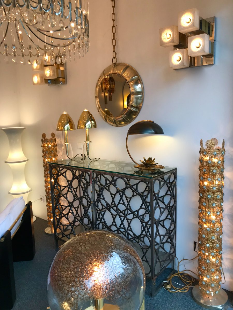 French Bronze Nenuphar Table Lamp By Chrystiane Charles