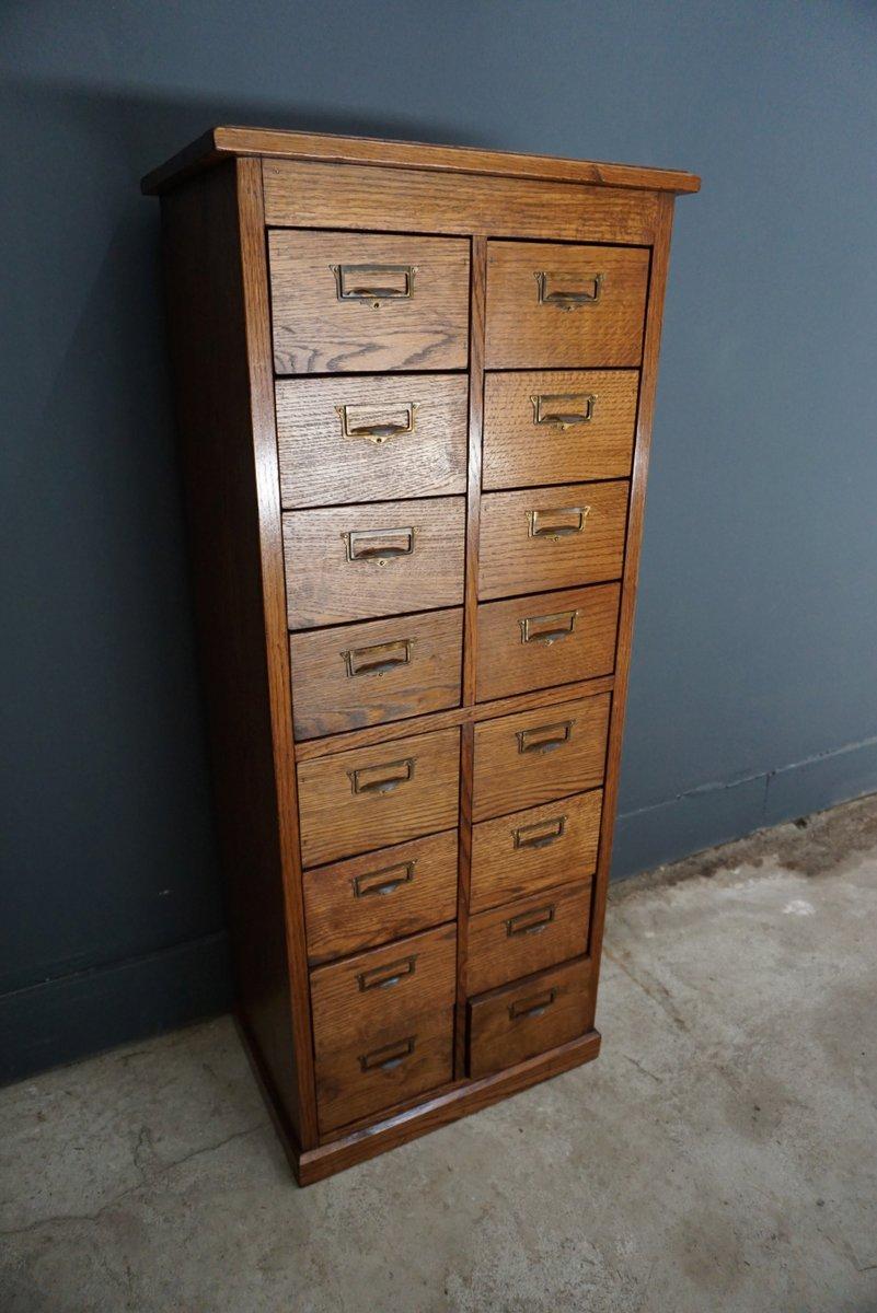 meuble d 39 archivage en ch ne pays bas 1930s en vente sur pamono. Black Bedroom Furniture Sets. Home Design Ideas