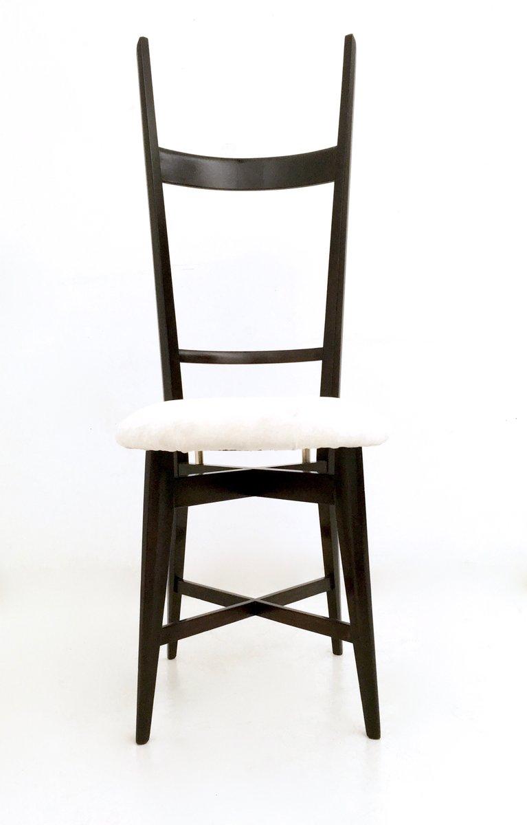 chiavari st hle aus wei em samt und ebonisiertem holz 1950er 2er set bei pamono kaufen. Black Bedroom Furniture Sets. Home Design Ideas