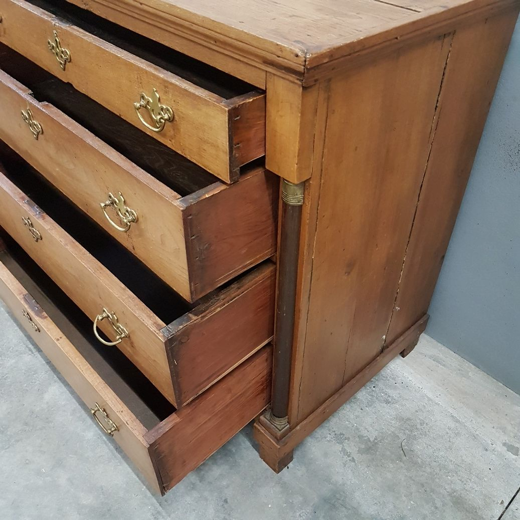 Antique Oak Empire Chest Of Drawers 1810 For Sale At Pamono