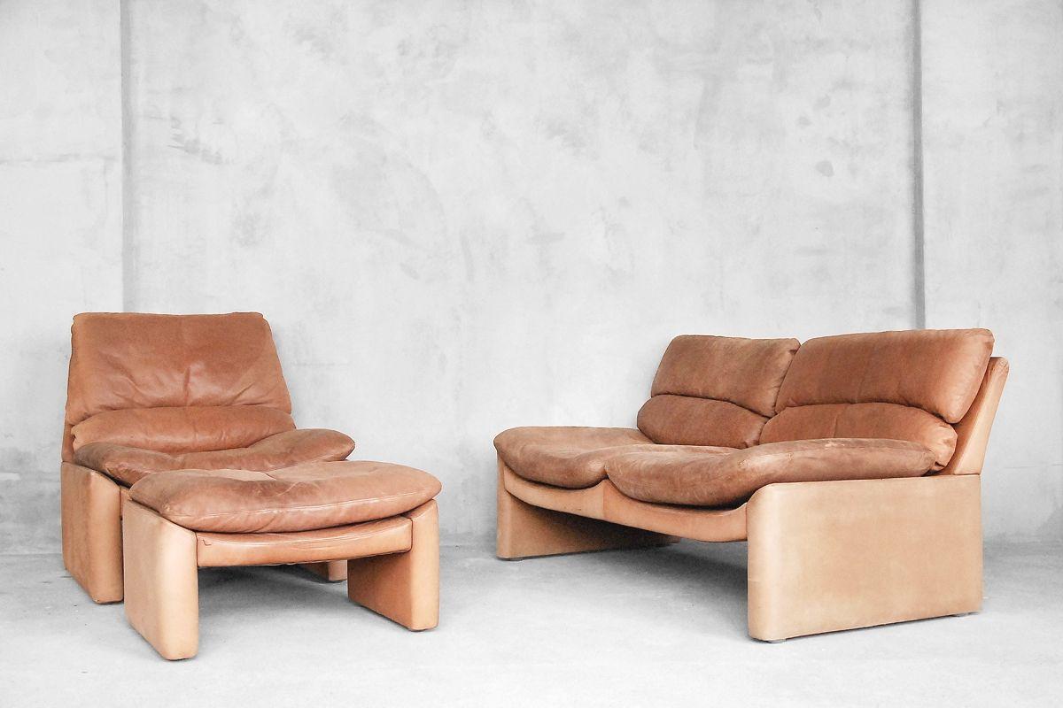 vintage leder sitzgruppe von walter knoll 1970er bei pamono kaufen. Black Bedroom Furniture Sets. Home Design Ideas