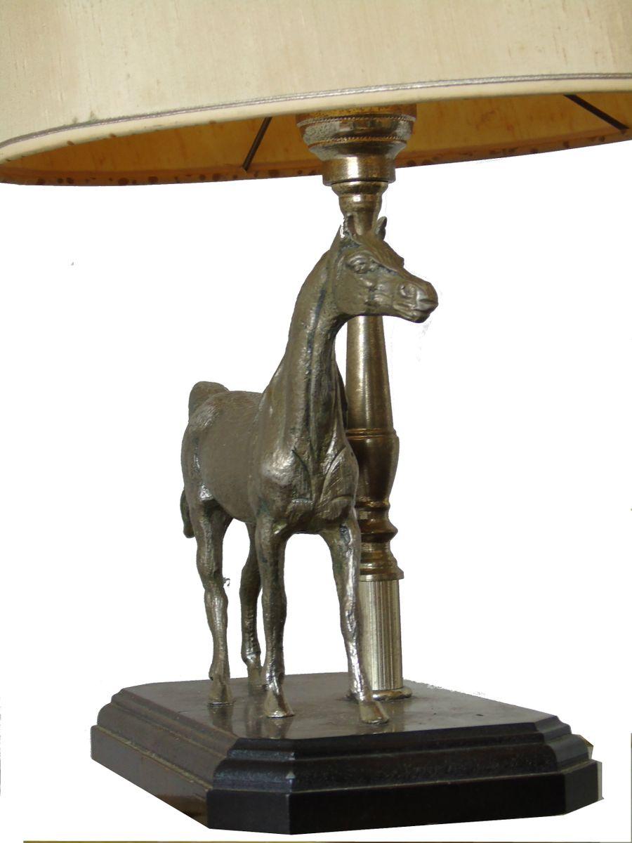 Franz sische skulpturelle vintage pferde tischlampen for Tischlampen vintage