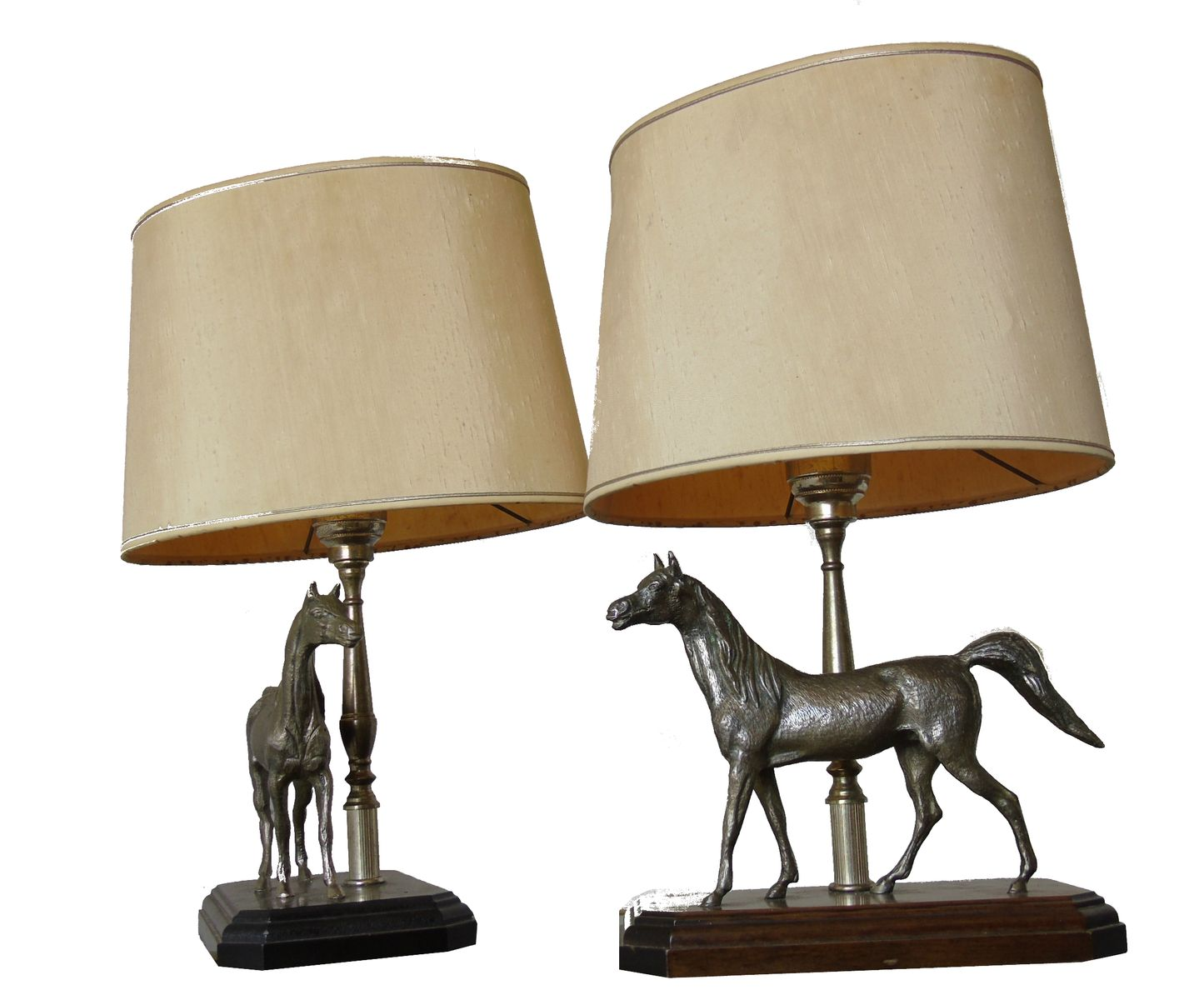 Vintage french sculptural horse table lamps 1970s set of 2 for vintage french sculptural horse table lamps 1970s set of 2 aloadofball Image collections