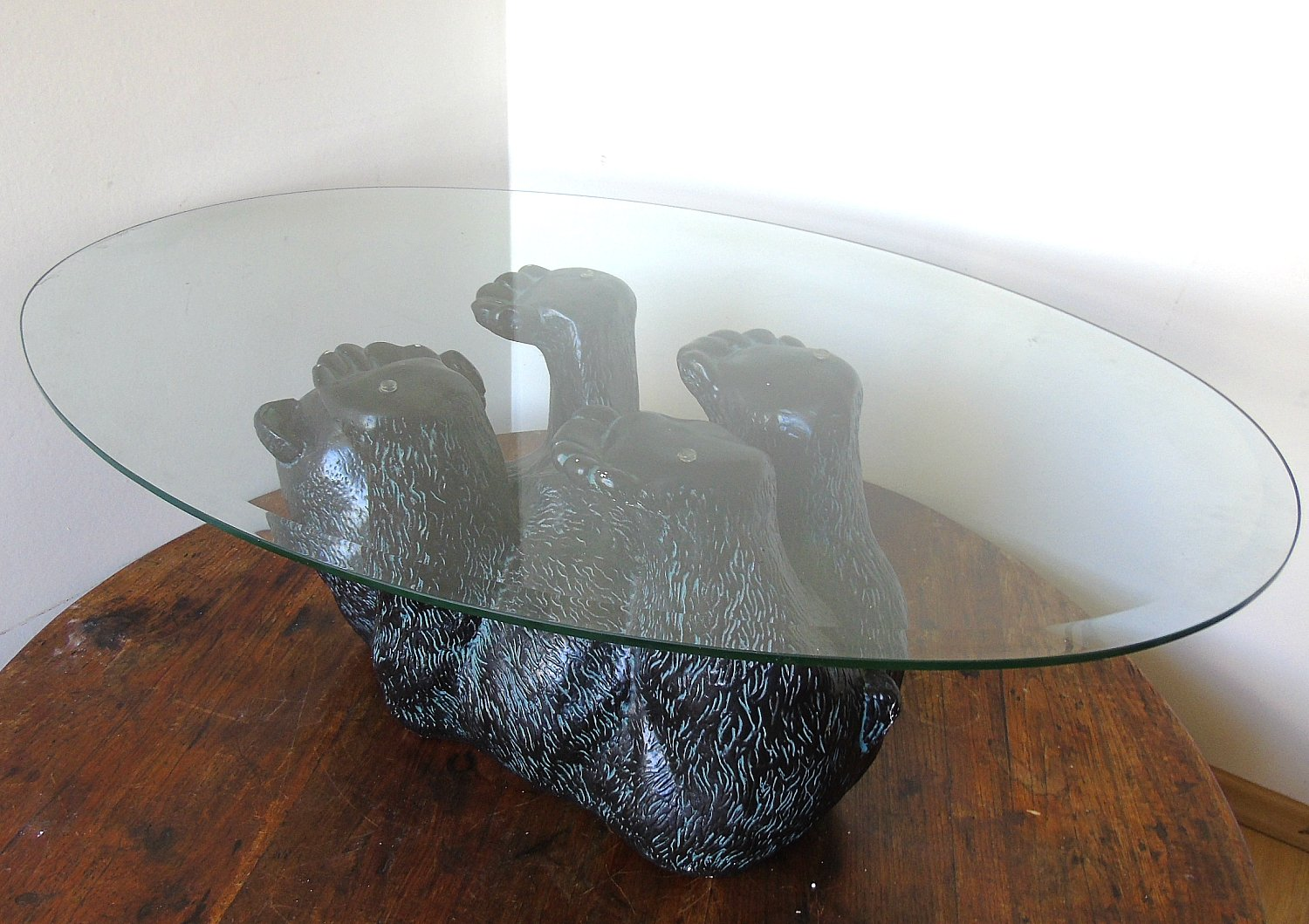 Black Bear Coffee Table 1970s For Sale At Pamono