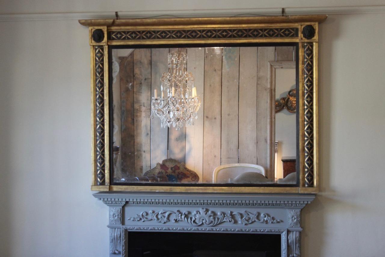 gro er spiegel 19 jh bei pamono kaufen. Black Bedroom Furniture Sets. Home Design Ideas