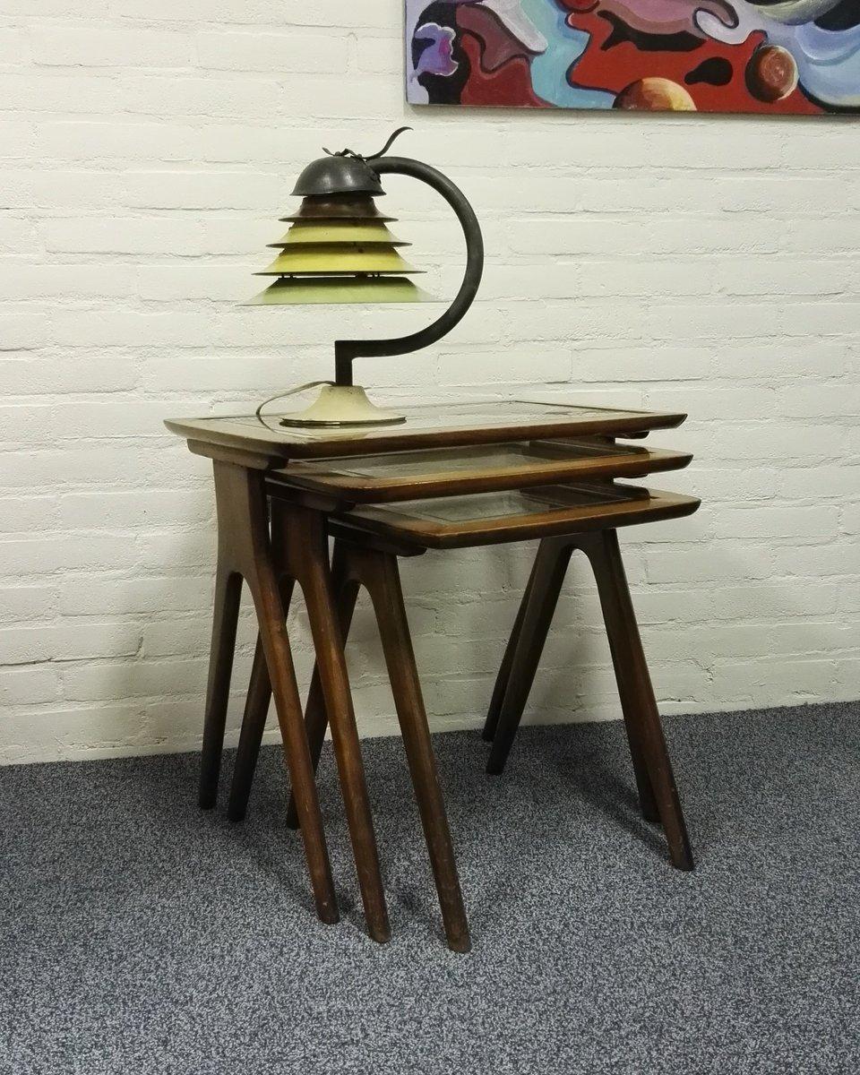 satztische von ico parisi 1950er bei pamono kaufen. Black Bedroom Furniture Sets. Home Design Ideas