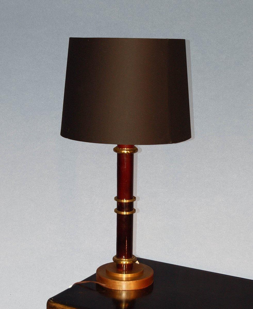 gro e vintage art deco lampe aus bronze bei pamono kaufen. Black Bedroom Furniture Sets. Home Design Ideas