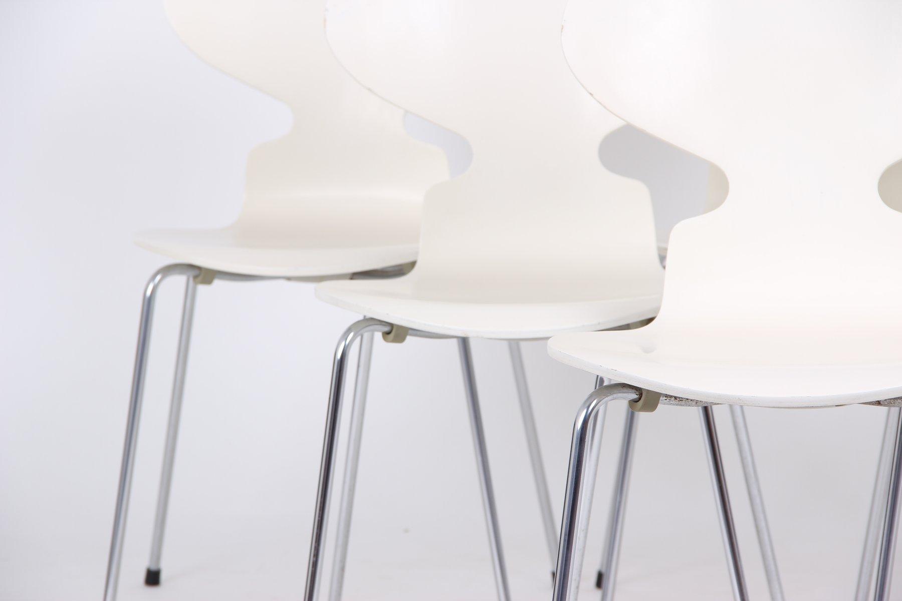 wei e modell 3101 esszimmerst hle von arne jacobsen f r. Black Bedroom Furniture Sets. Home Design Ideas
