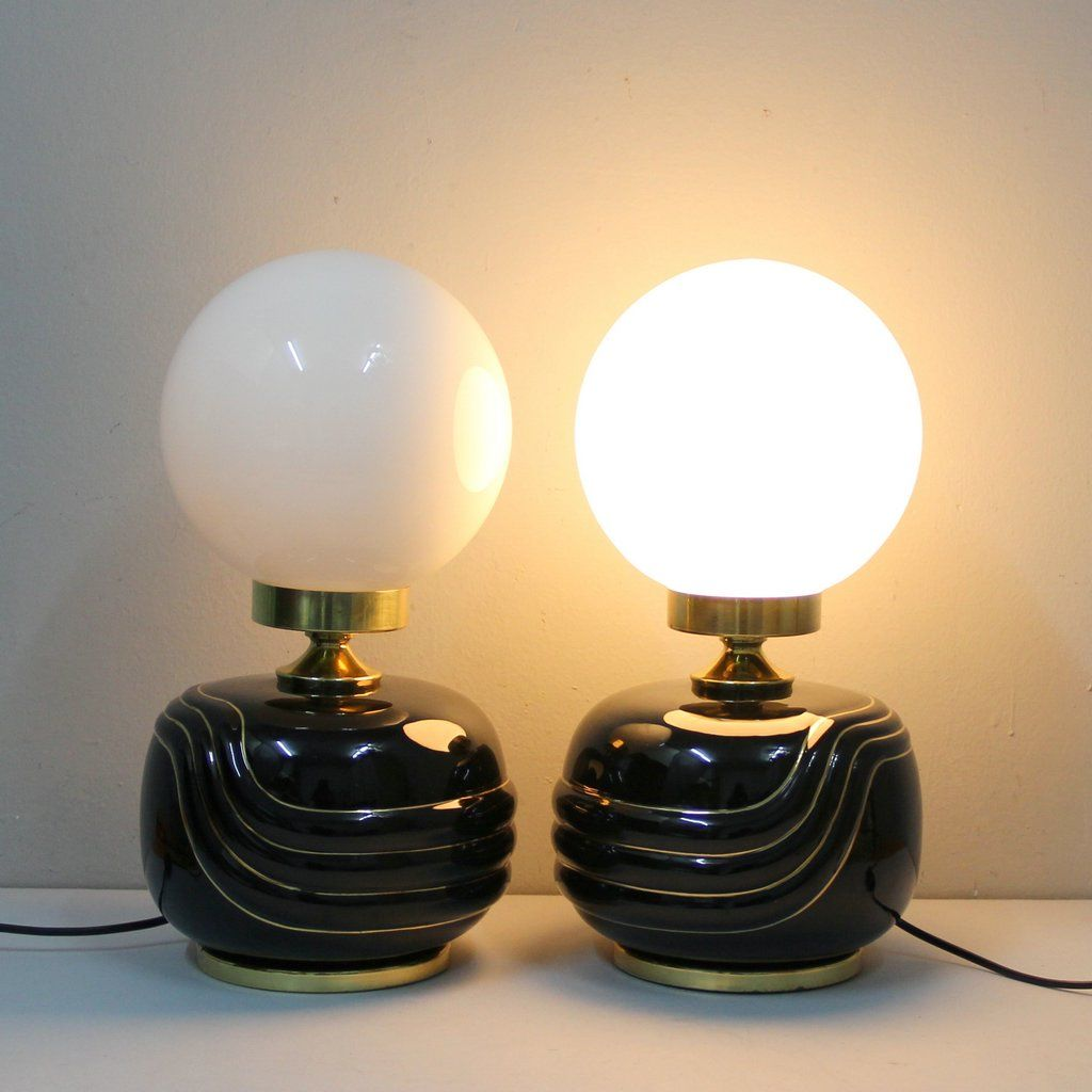 Hollywood Regency Lamps, 1970s, Set Of 2 For Sale At Pamono