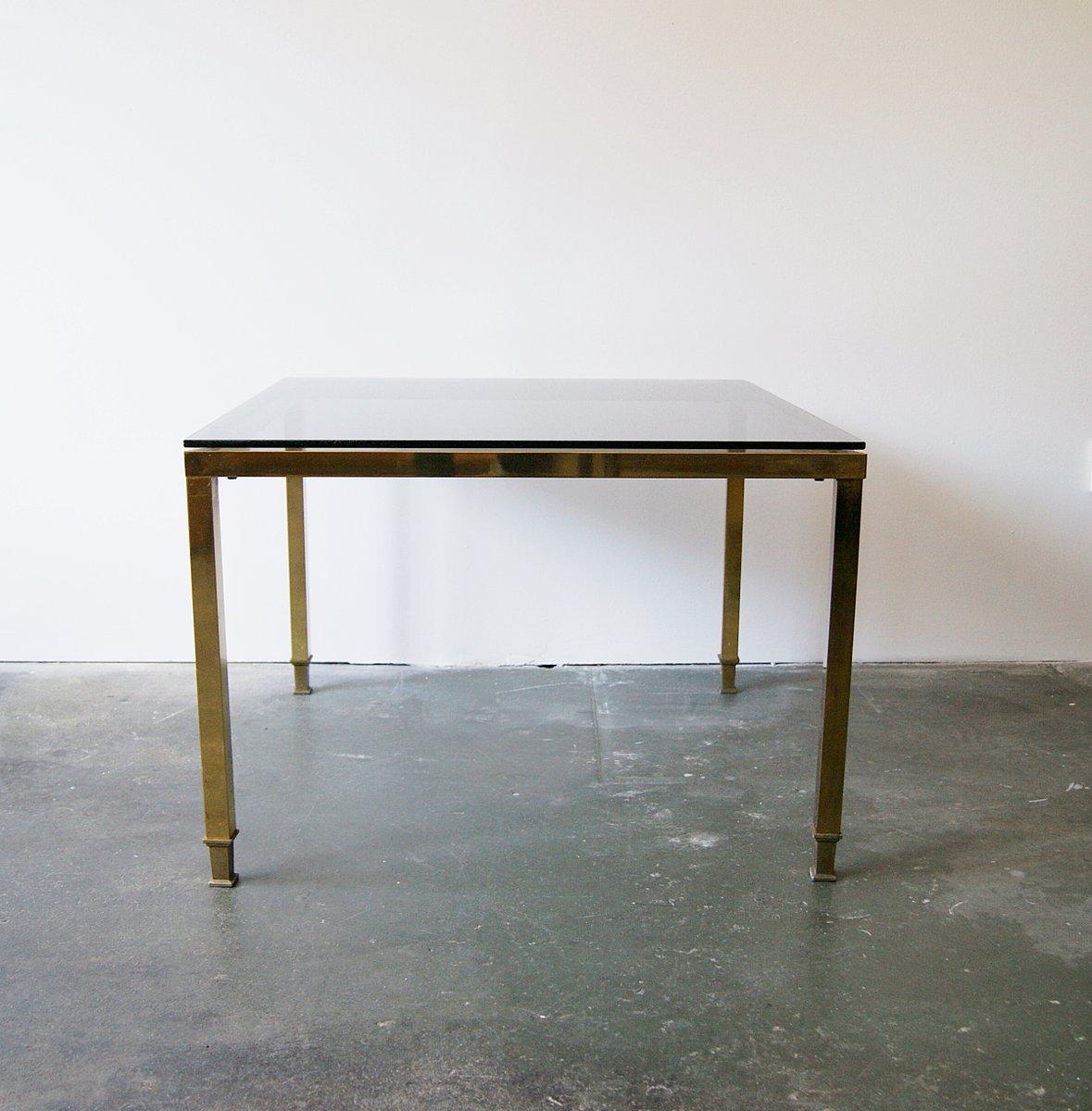 mid century messing glas couchtisch bei pamono kaufen. Black Bedroom Furniture Sets. Home Design Ideas