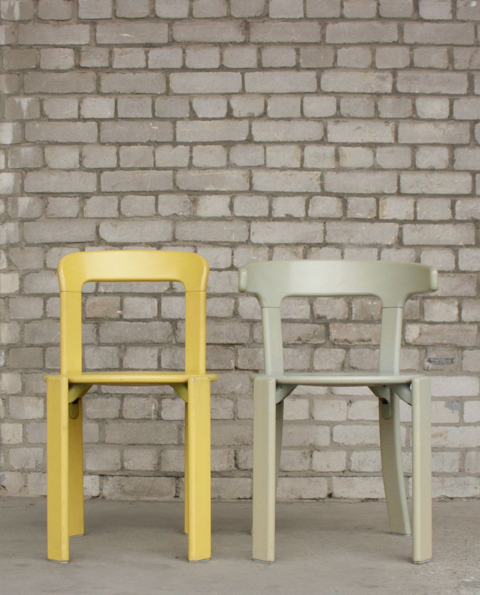 Vintage Stackable Yellow & Grey Chairs by Bruno Rey for Kusch & Co ...