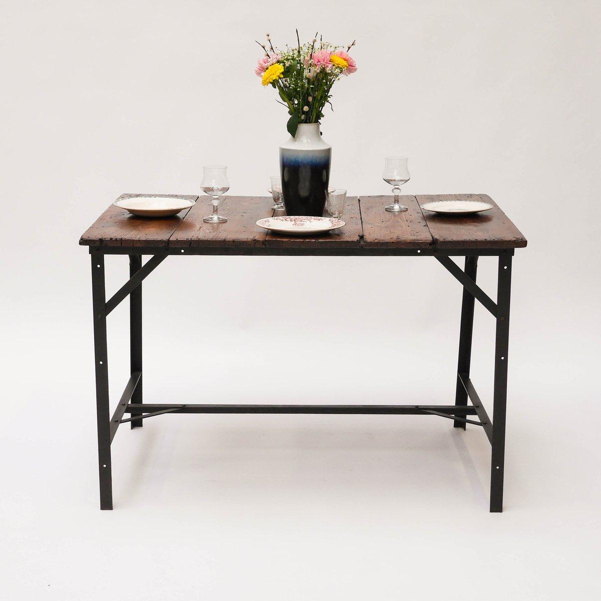 antiker tisch aus holz bei pamono kaufen. Black Bedroom Furniture Sets. Home Design Ideas