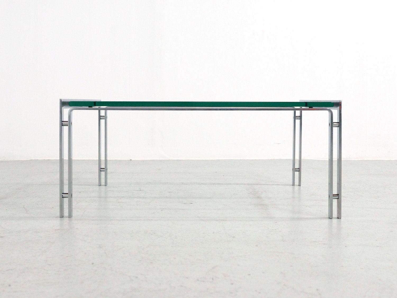 M1 Steel U0026 Glass Coffee Table From Metaform, 1980s