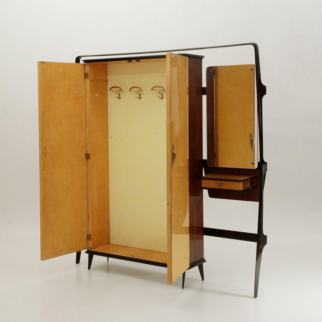 Coat hanger cabinet with console by consorzio esposizione mobili cant 1950s for sale at pamono - Mobili esposizione ...