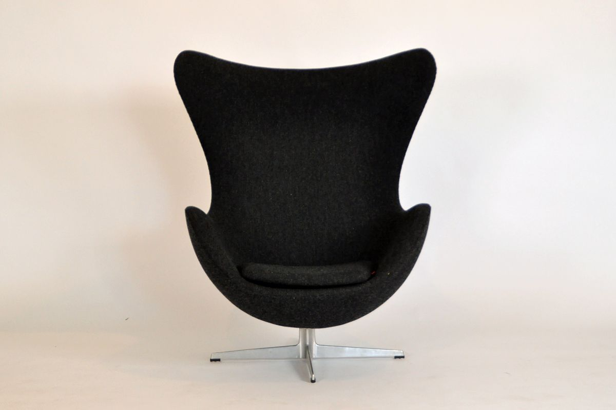 egg chair von arne jacobsen f r fritz hansen 1950er bei pamono kaufen. Black Bedroom Furniture Sets. Home Design Ideas