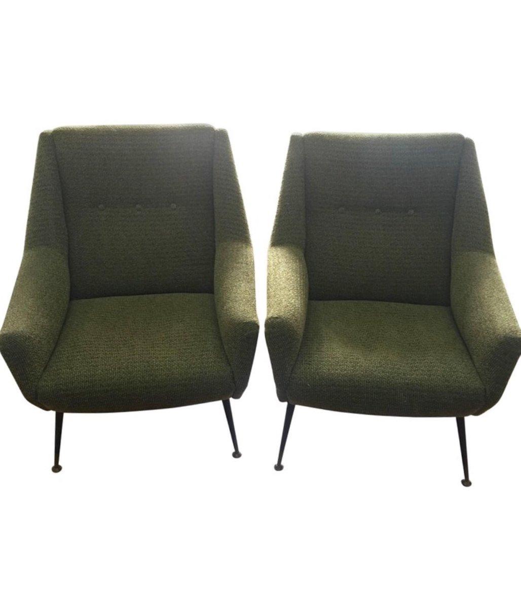 Mid Century Modern Armchairs, Italy, Set Of 2