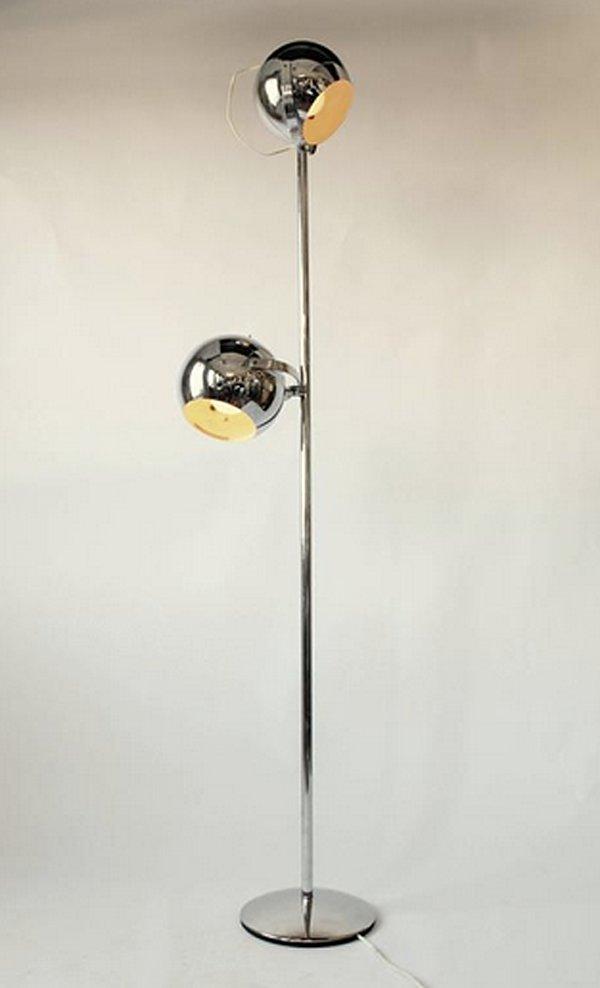 Chromed Eyeball Floor Lamp from Reggiani, 1960s for sale at Pamono