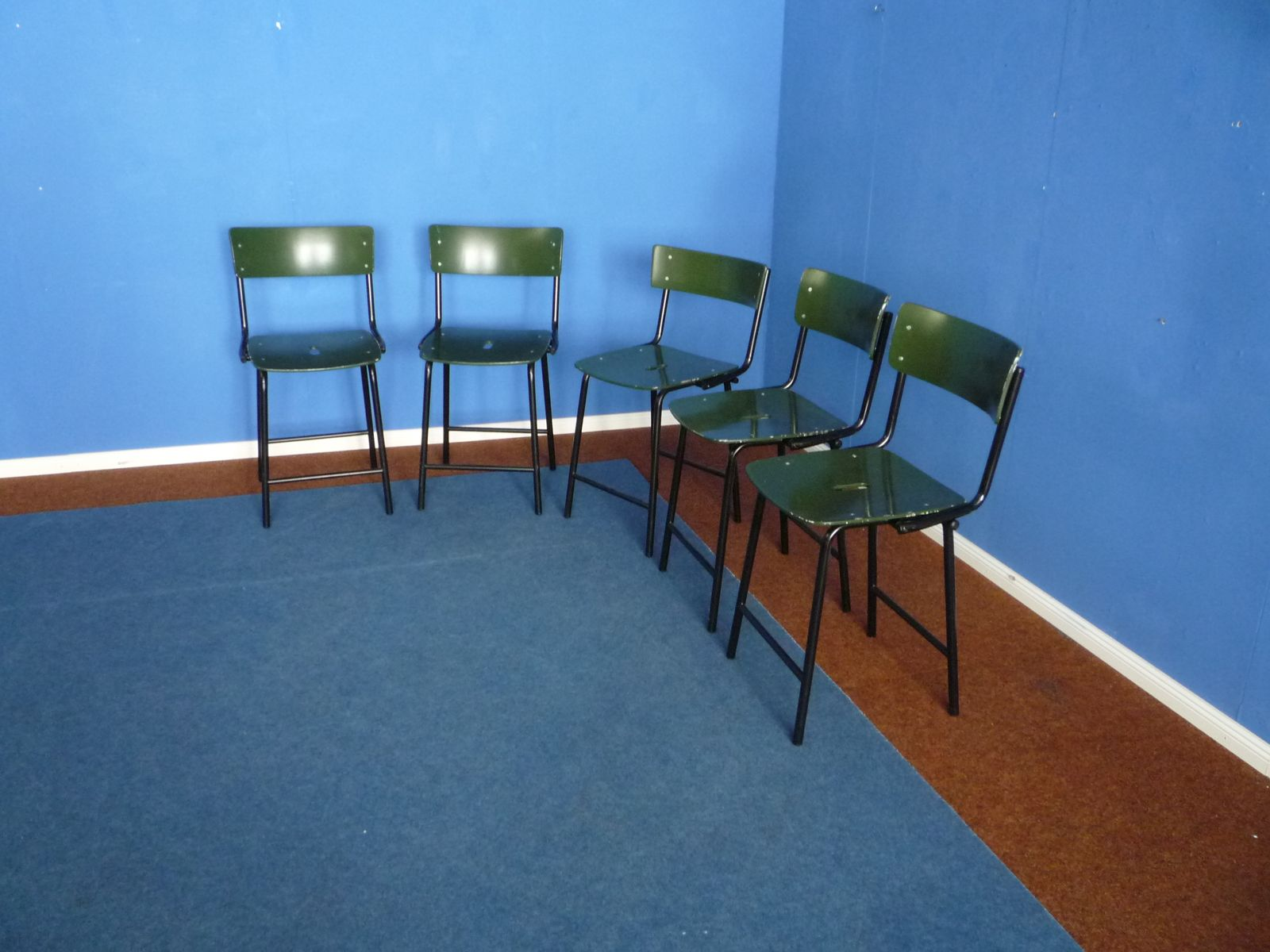 Industrial Chairs 1960s Set Of 5 For Sale At Pamono