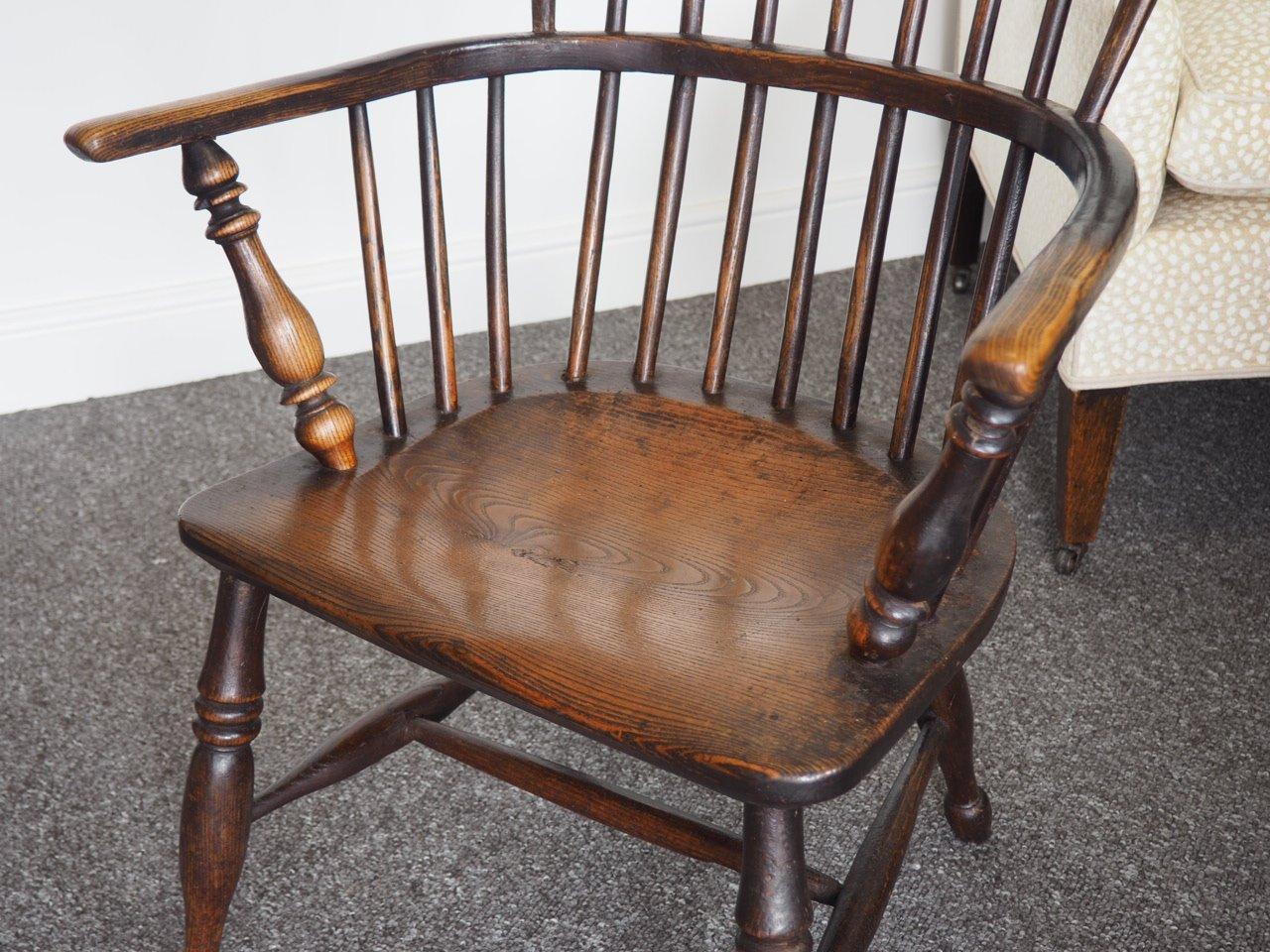 Georgian Elm Hoop Back Windsor Chair 1830s 10 670 00