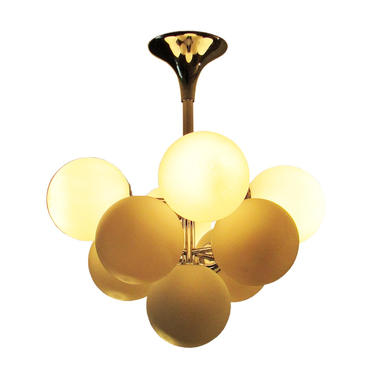 Vintage Sputnik Chandelier By Max Bill For Temde For Sale