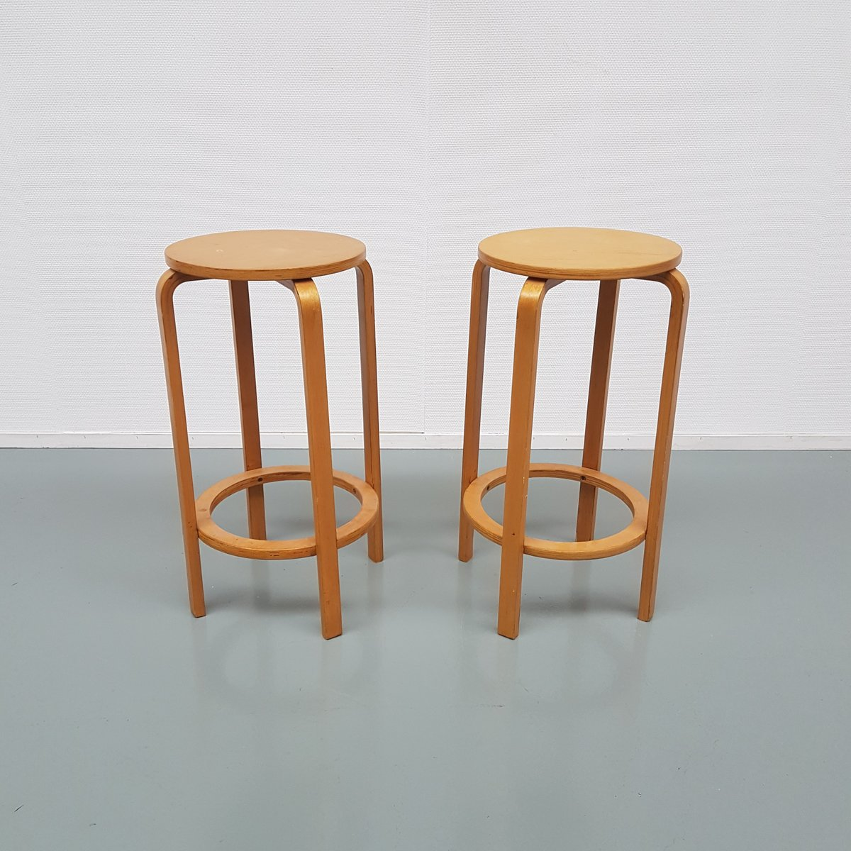 Model 64 Barstool By Alvar Aalto For Artek 1940s For Sale