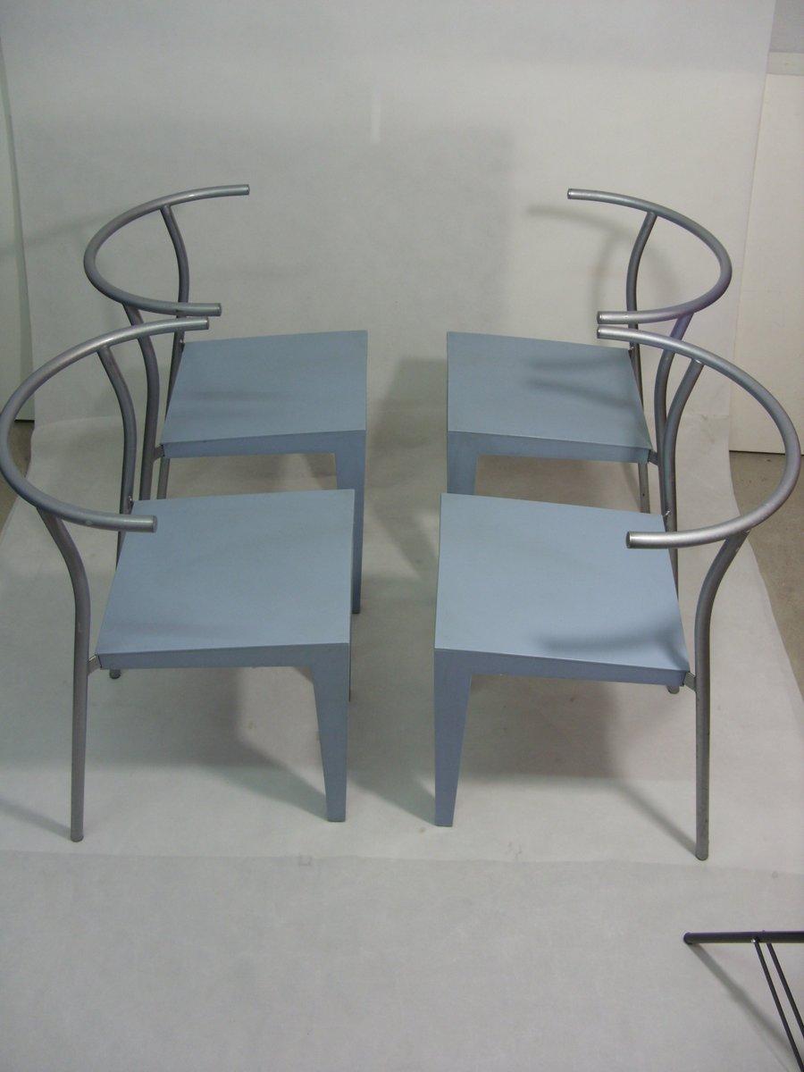 dr glob st hle von philippe starck f r kartell 1988 4er set bei pamono kaufen. Black Bedroom Furniture Sets. Home Design Ideas