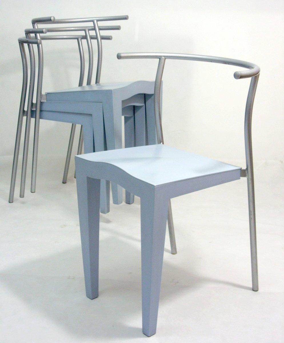 dr glob st hle von philippe starck f r kartell 1988 4er. Black Bedroom Furniture Sets. Home Design Ideas